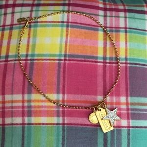 Gold Coach Charm Necklace